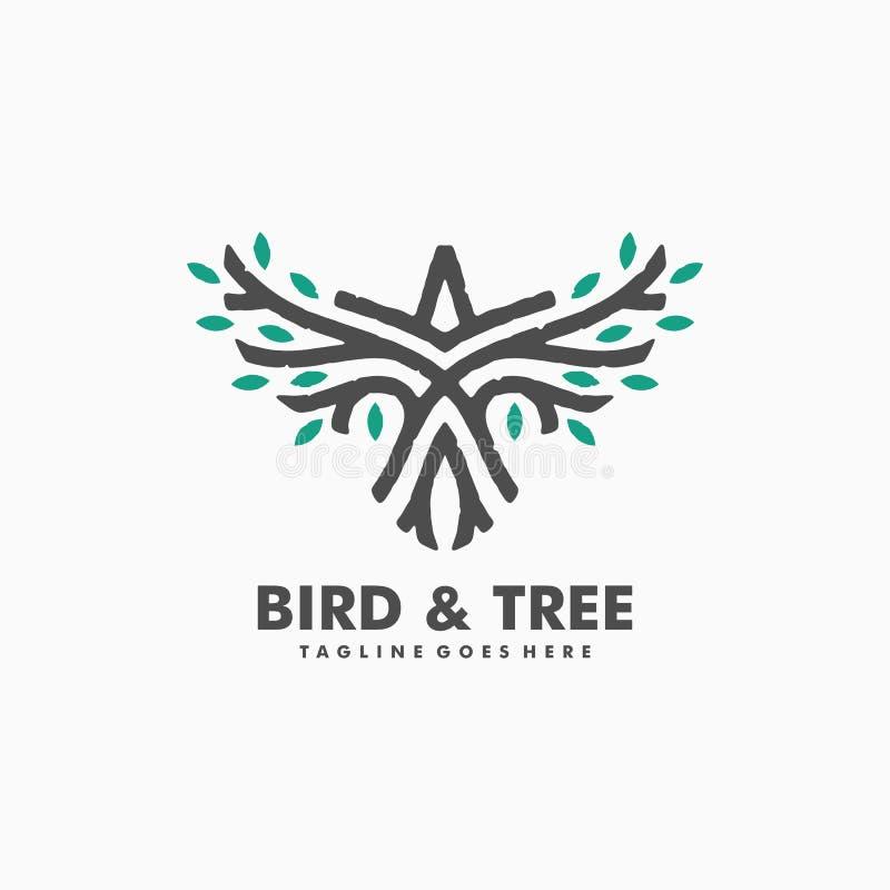 Ptasiego Drzewnego pojęcia projekta ilustracyjny wektorowy szablon royalty ilustracja