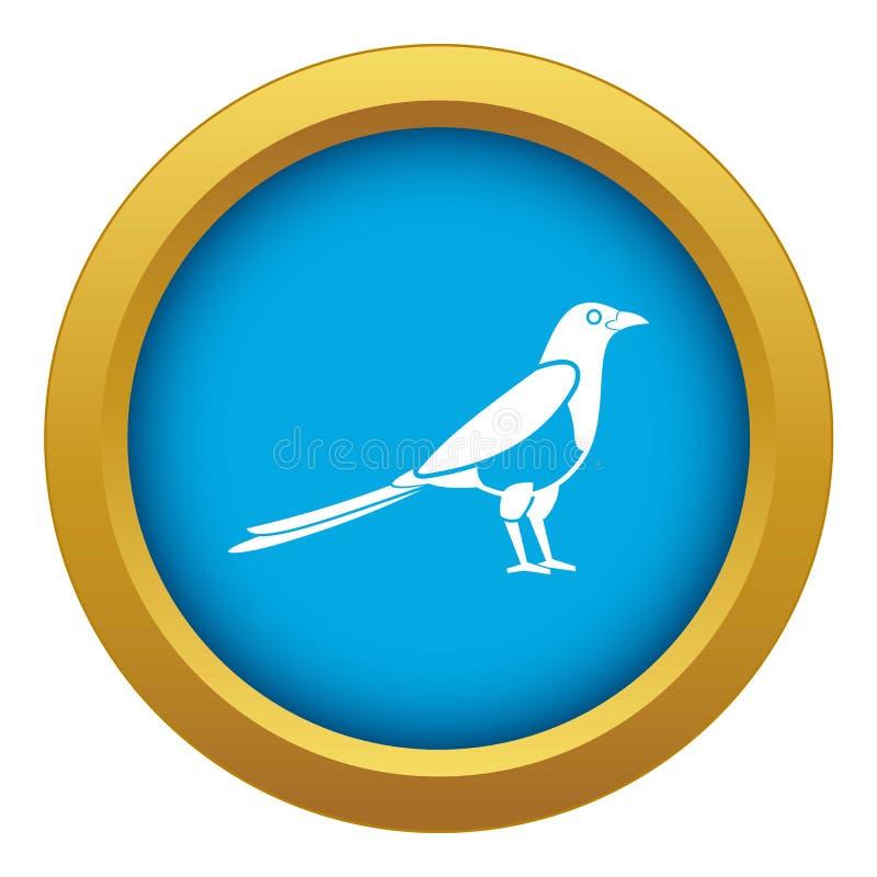 Ptasiej sroki ikony błękitny wektor odizolowywający royalty ilustracja