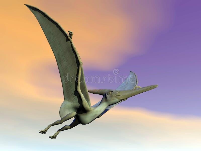 Pteranodon恐龙飞行- 3D回报 向量例证