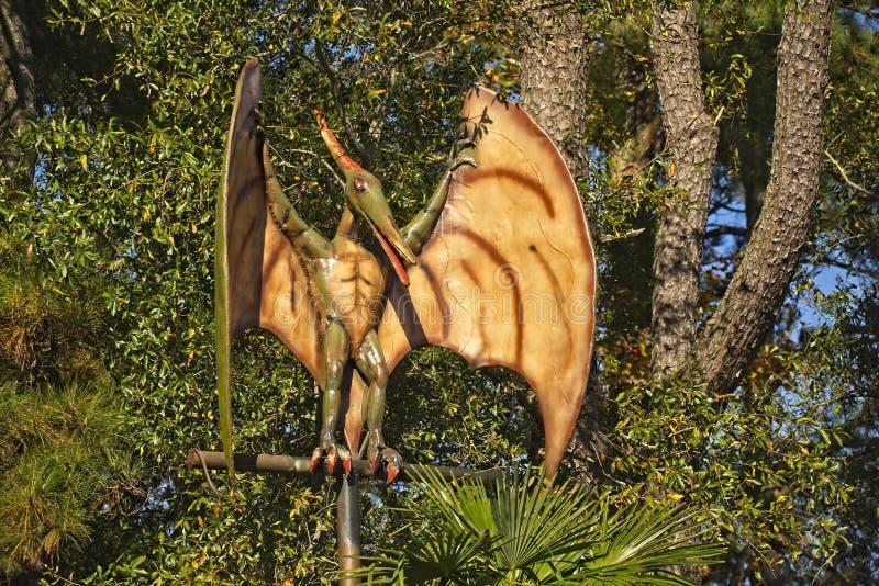 Pteranodon最大的飞行爬虫动物 库存图片