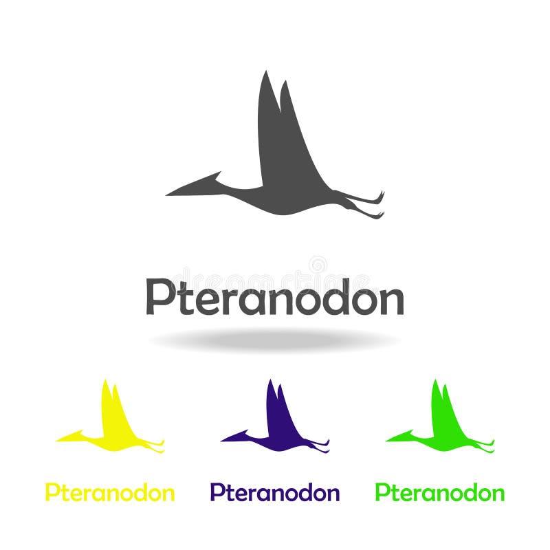 pteranodon, Dinosaurier farbige Ikone Kann für Netz, Logo, mobiler App, UI, UX verwendet werden stock abbildung