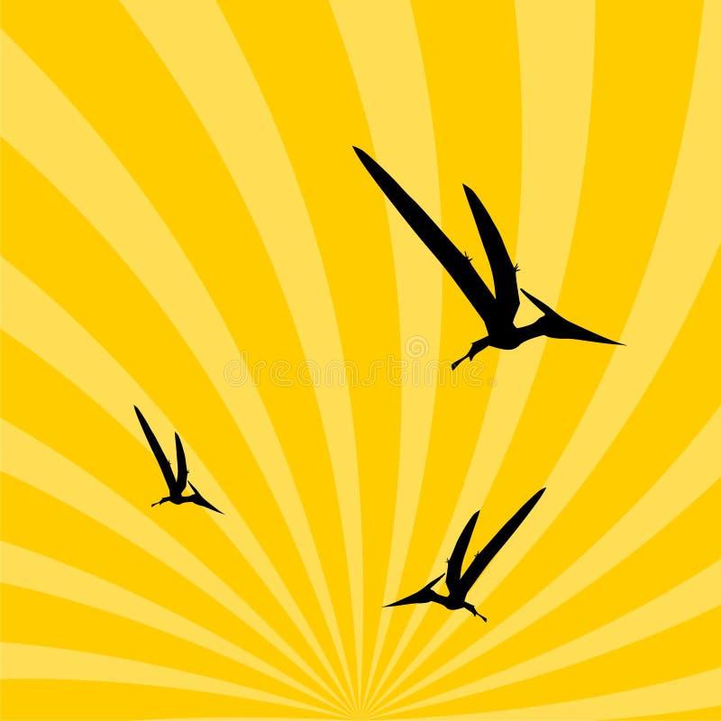 Pteranodon-Dinosaurier im Himmel lizenzfreie abbildung