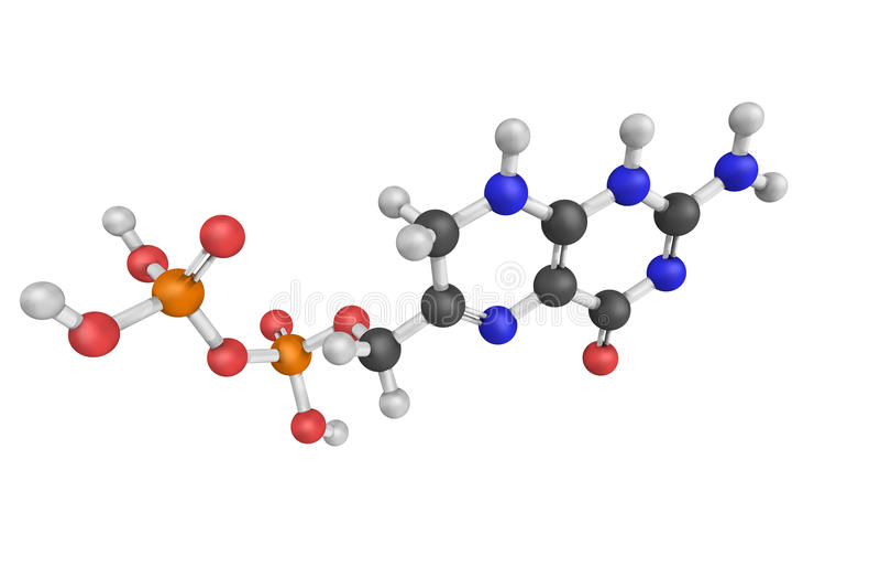 Pteridinedifosfaat, als 2-amino-4-hydroxy-6-pyropho ook wordt bekend die stock foto
