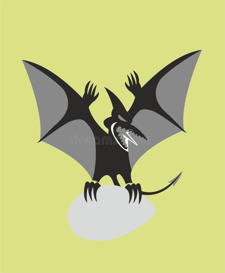 Pterodátilo com o ovo como o emblema ilustração do vetor