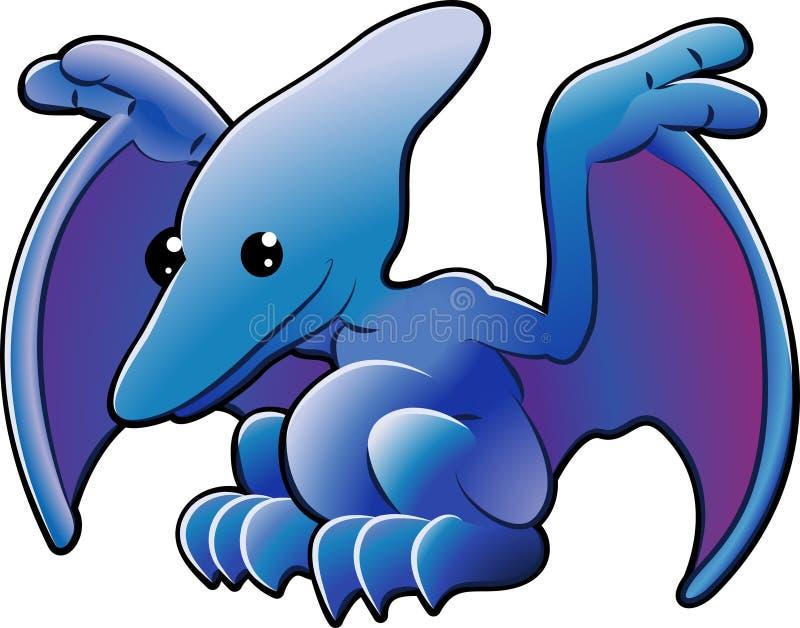 Pterodactyl bonito ilustração do vetor
