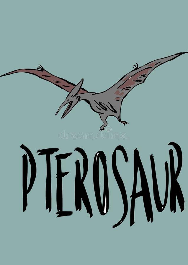 Pterosaur ilustração stock