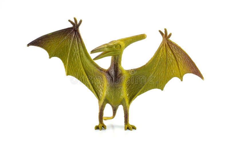 Pterosaur dinosaurieleksak arkivfoton