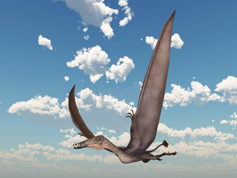 Pterosaur Dorygnathus ilustração stock