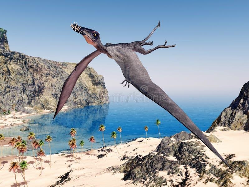Pterosaur Dorygnathus ilustração do vetor
