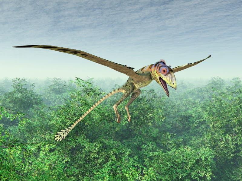 Pterosaur Peteinosaurus illustration libre de droits