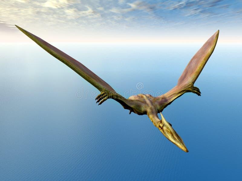 Pterosaur Quetzalcoatlus stock illustratie
