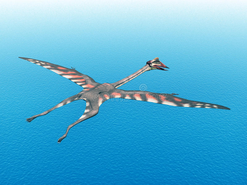 Pterosaur Quetzalcoatlus libre illustration