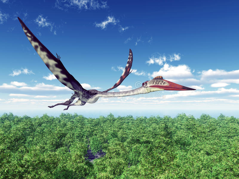 Pterosaur Quetzalcoatlus ilustración del vector