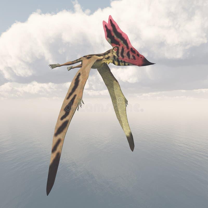 Pterosaur Thalassodromeus stock illustrationer