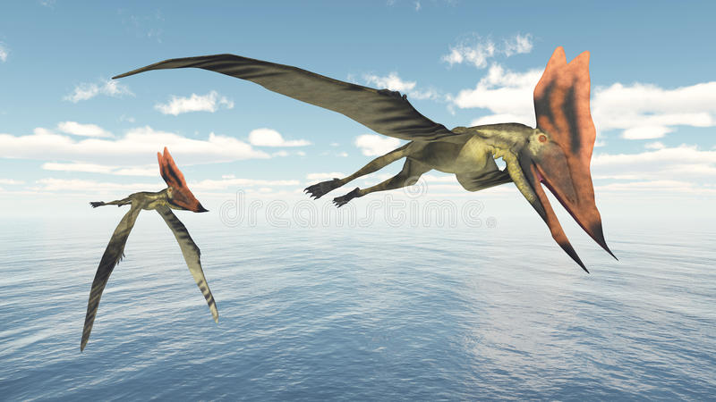 Pterosaur Thalassodromeus stock illustrationer