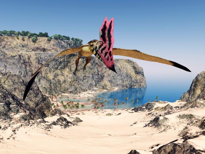 Pterosaur Thalassodromeus vektor illustrationer