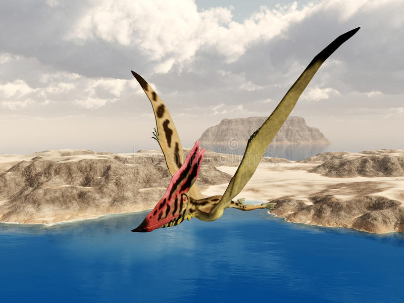 Pterosaur Thalassodromeus royaltyfri illustrationer