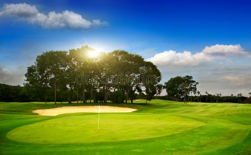 Ptole di golf sull'isola Bali immagini stock