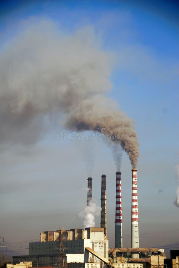 Ptolemaida的,希腊木炭电力设备 免版税库存照片