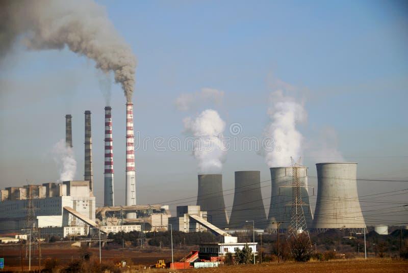 Ptolemaida的,希腊木炭电力设备 库存照片