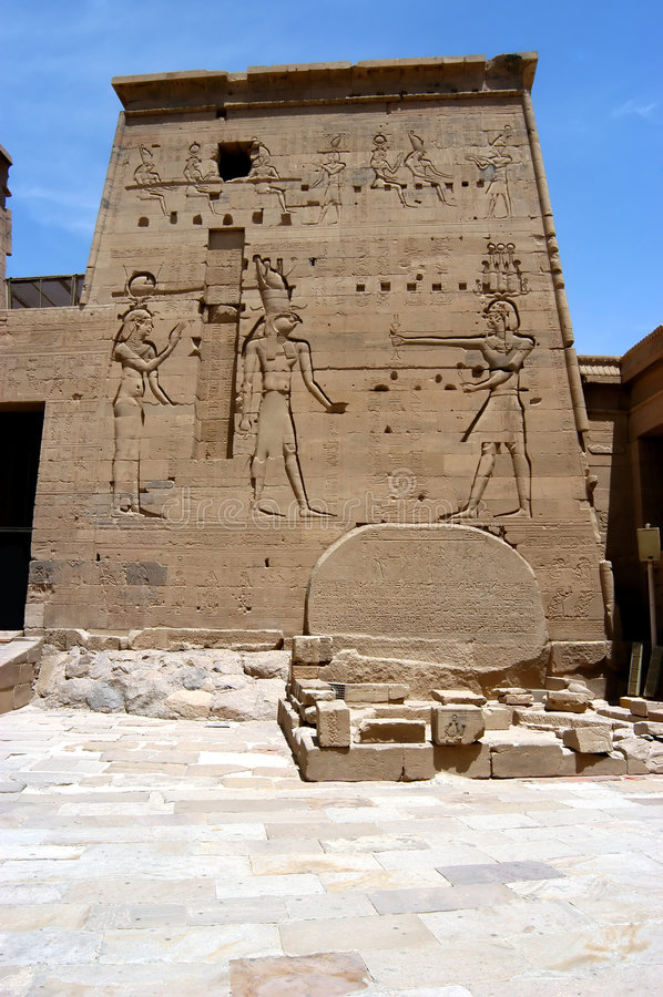 Ptolemy temple on the island of Philae stock photos
