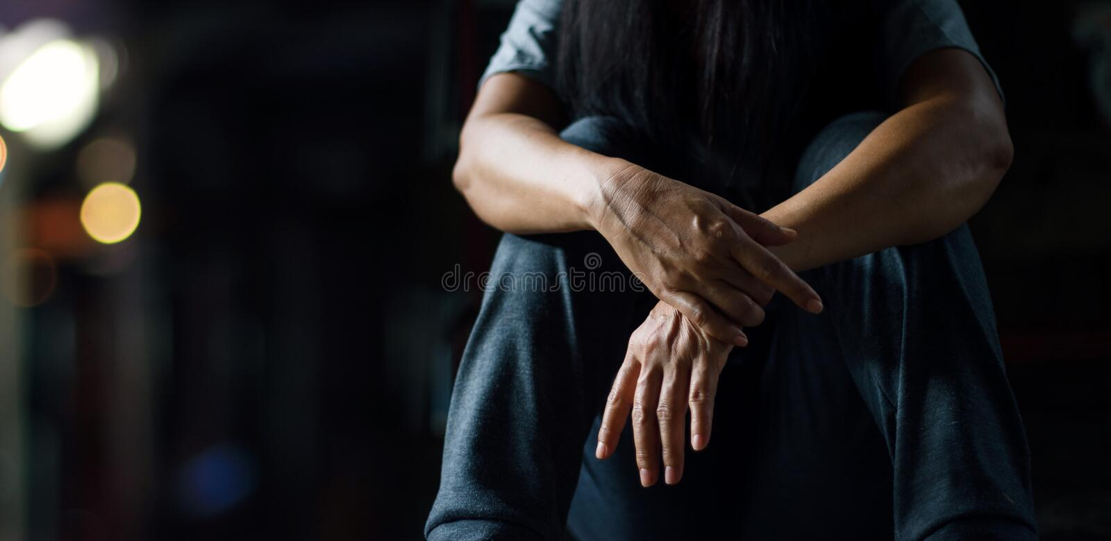 PTSD Mental health concept. Post Traumatic Stress Disorder. stock photo