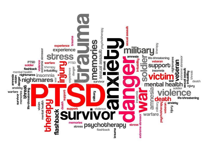 PTSD zdrowie psychiczne ilustracja wektor