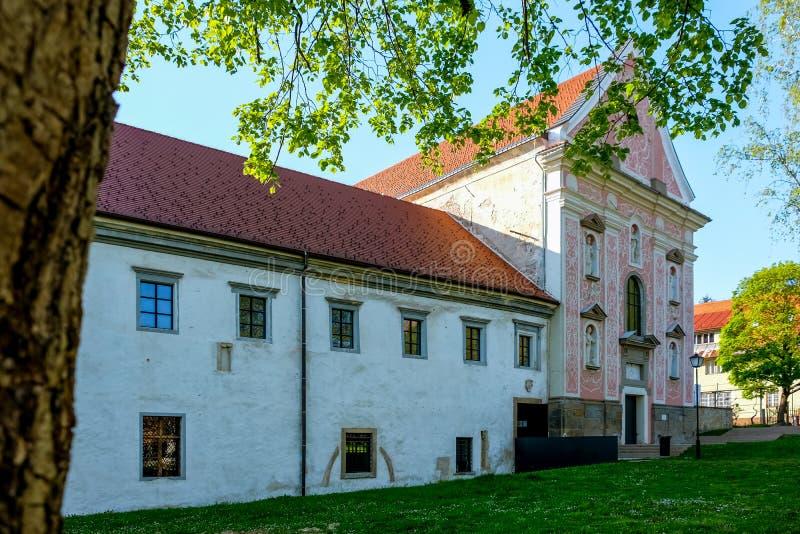 Ptuj, monastero domenicano fotografia stock libera da diritti