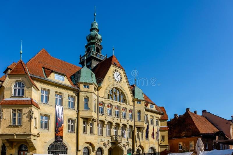 Ptuj, municipio fotografia stock libera da diritti