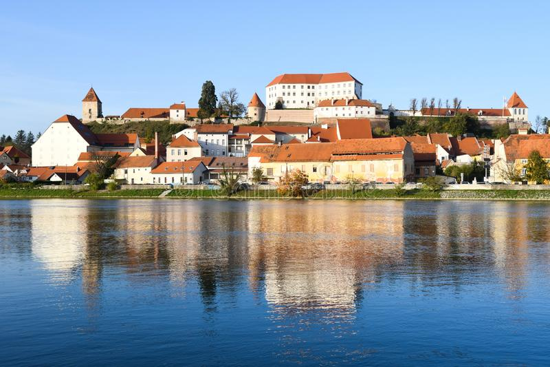 Ptuj of Slovenia stock photo