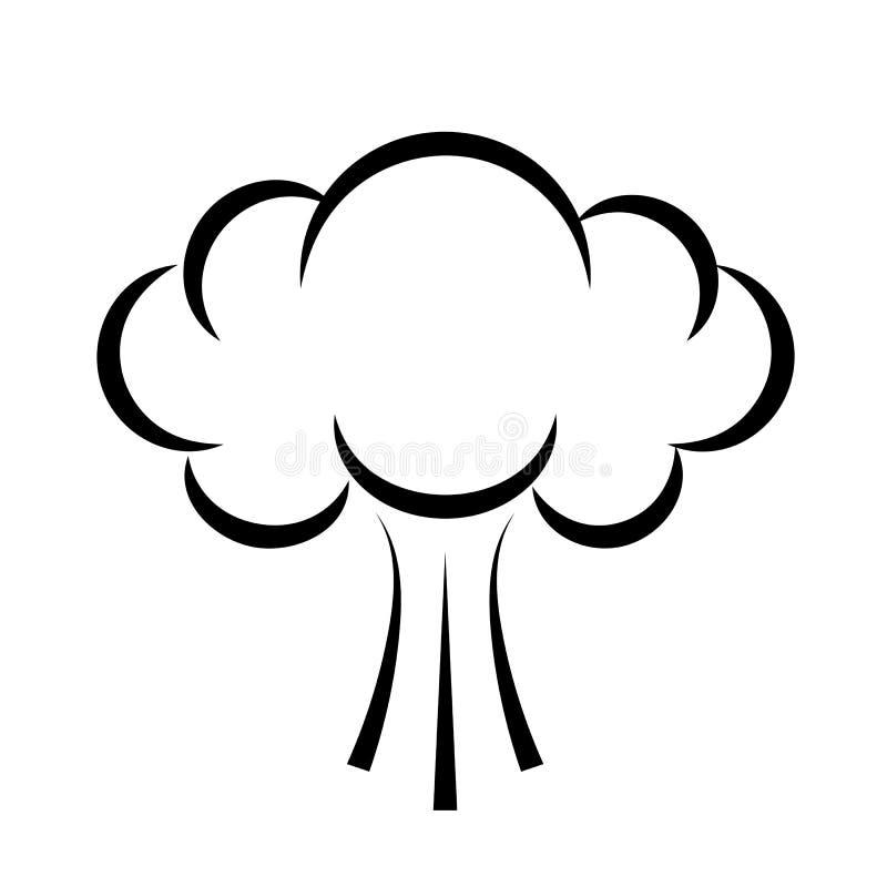 Ptysiowa dymnej chmury ikona ilustracja wektor