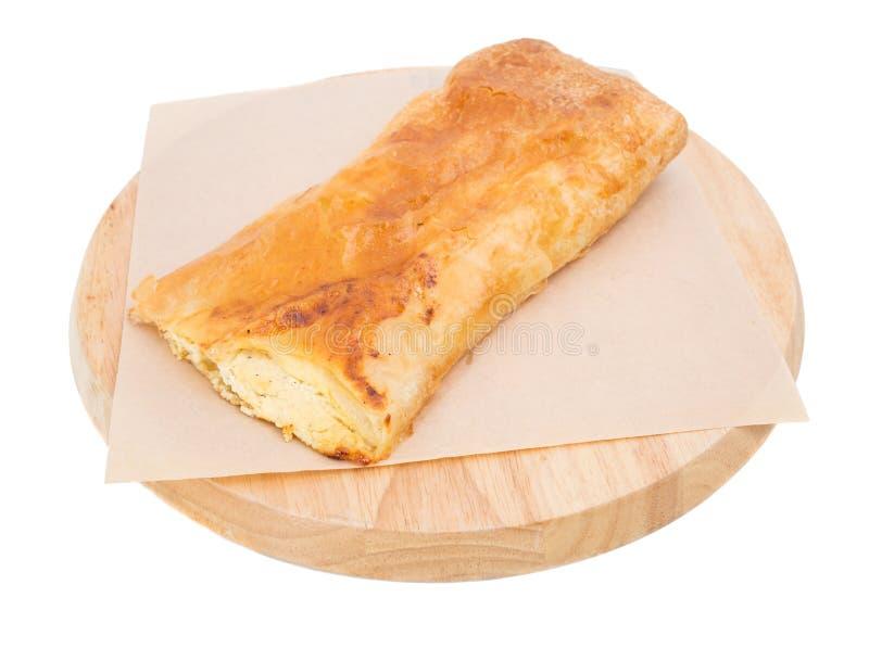 Ptysiowy ciasto z chałupa serem obrazy stock