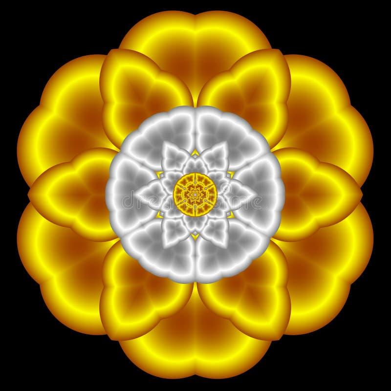 ptysiowy kwiatu atłas ilustracja wektor