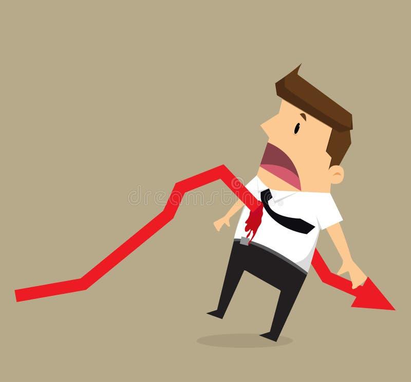 Puñalada de la flecha del hombre de negocios libre illustration