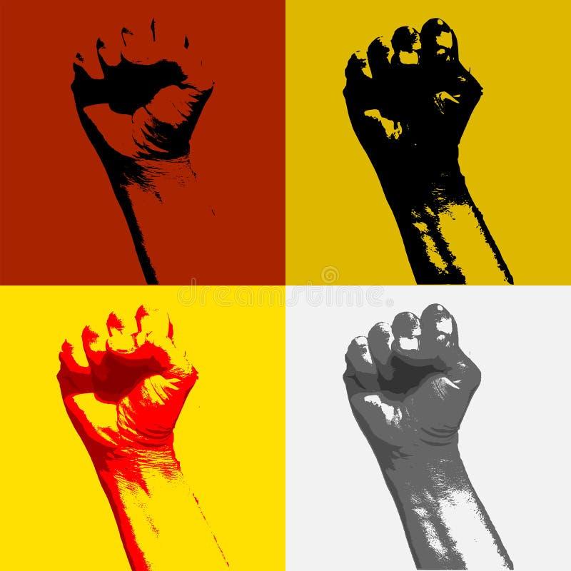 Puño del concepto de la agitación de la revolución y de la protesta fotografía de archivo libre de regalías