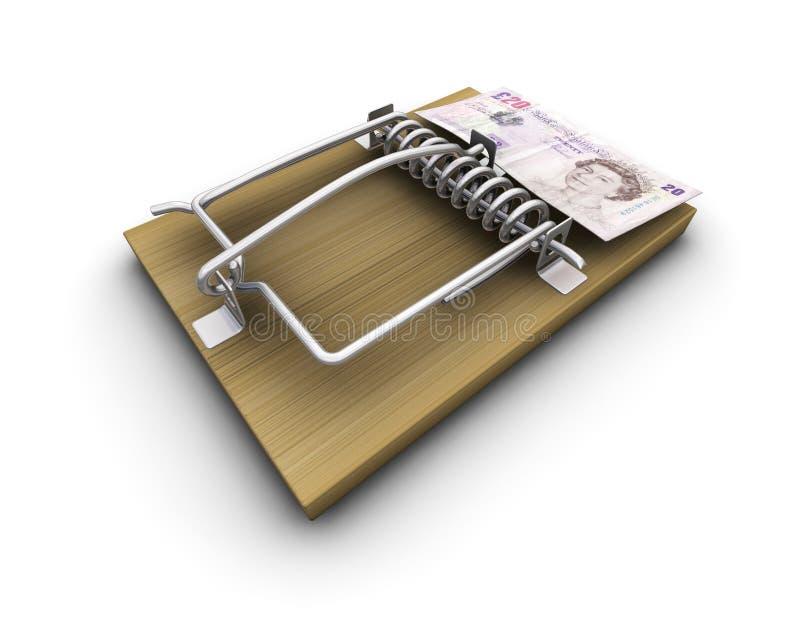 pułapka pieniądze ilustracji
