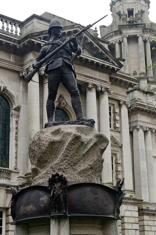 Pułku bur Wojenny pomnik, Belfast, Północny - Ireland obraz royalty free