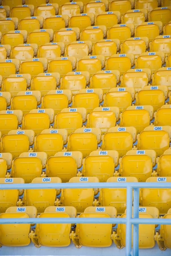 Puści, żółci stadiów siedzenia, zdjęcia stock