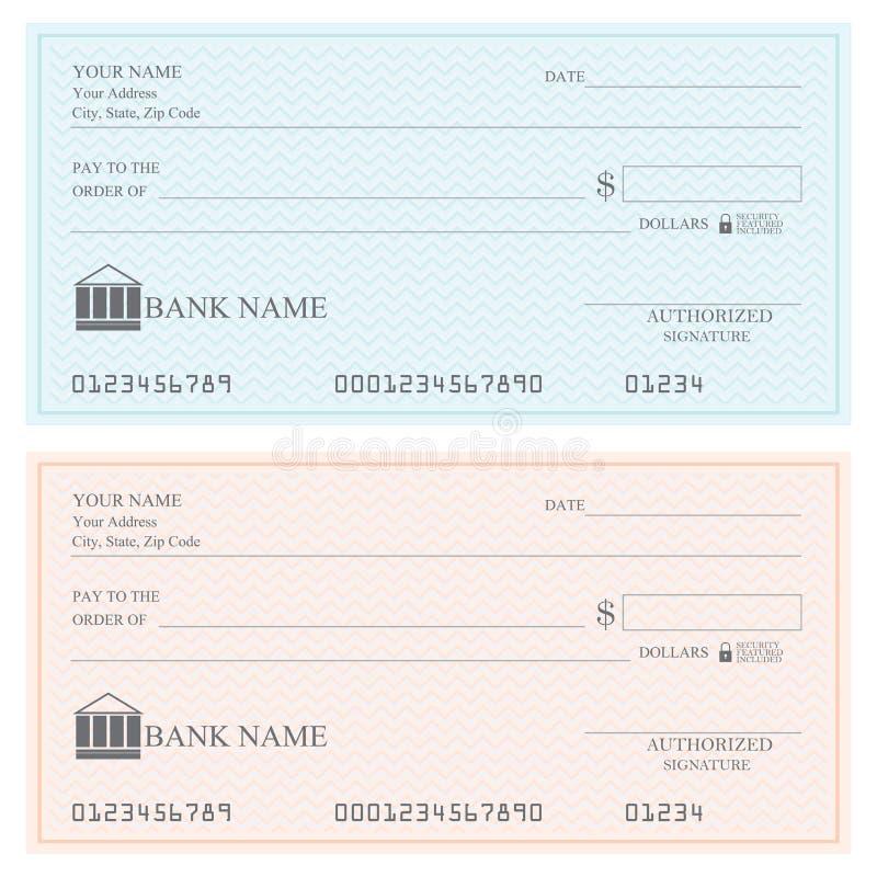 Puści banków czeki lub kratki książka royalty ilustracja