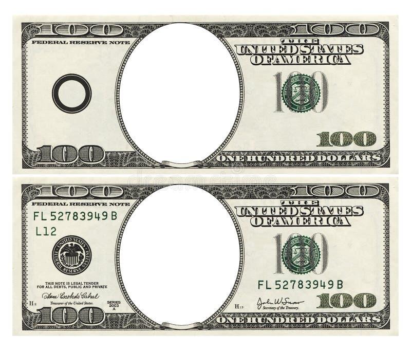 puści dolary sto zdjęcie stock