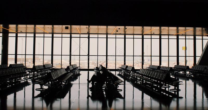 Puści lotniska fotografia royalty free