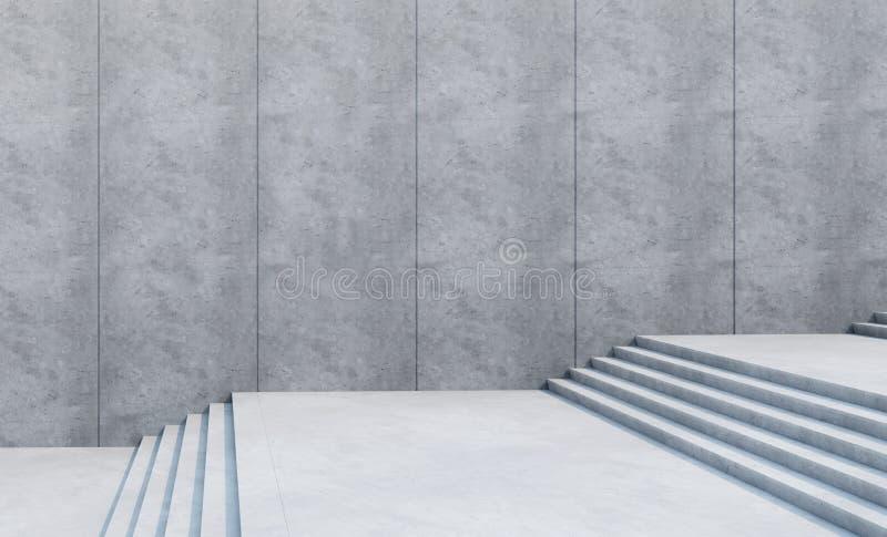 Puści schodki w mieście ilustracji