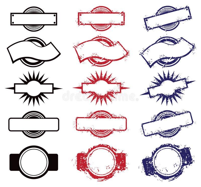 Puści znaczki ilustracja wektor