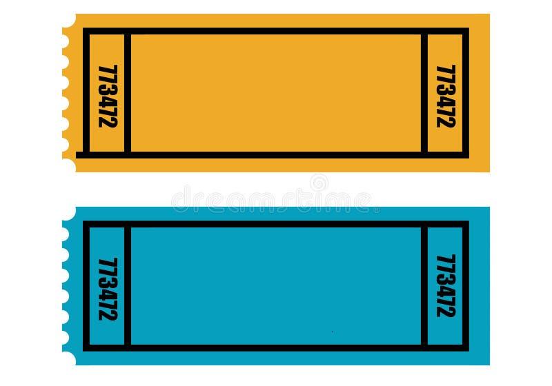 Download Puści bilety dwa ilustracji. Obraz złożonej z eventide - 10528181