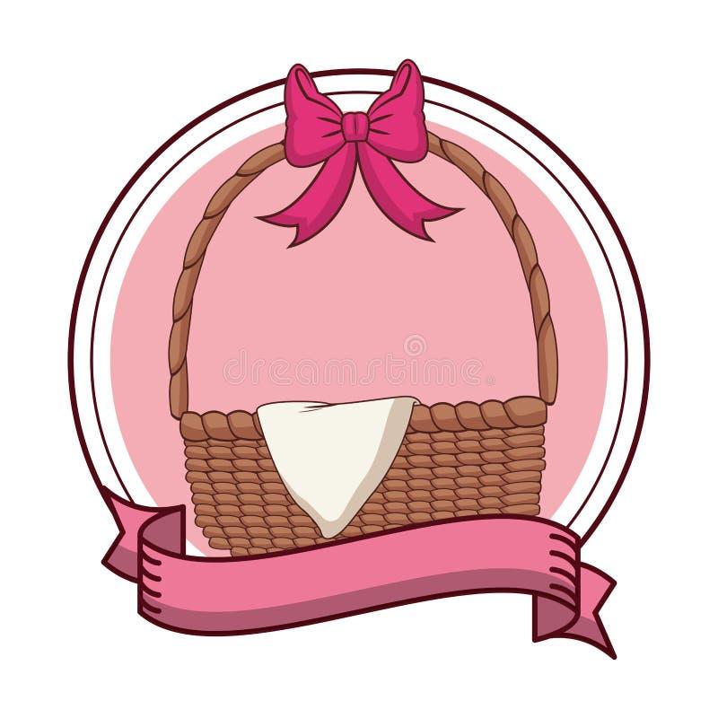 Pu?ci Easter jajka koszykowi royalty ilustracja