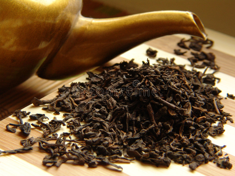 Pu-Erh tea stock photo