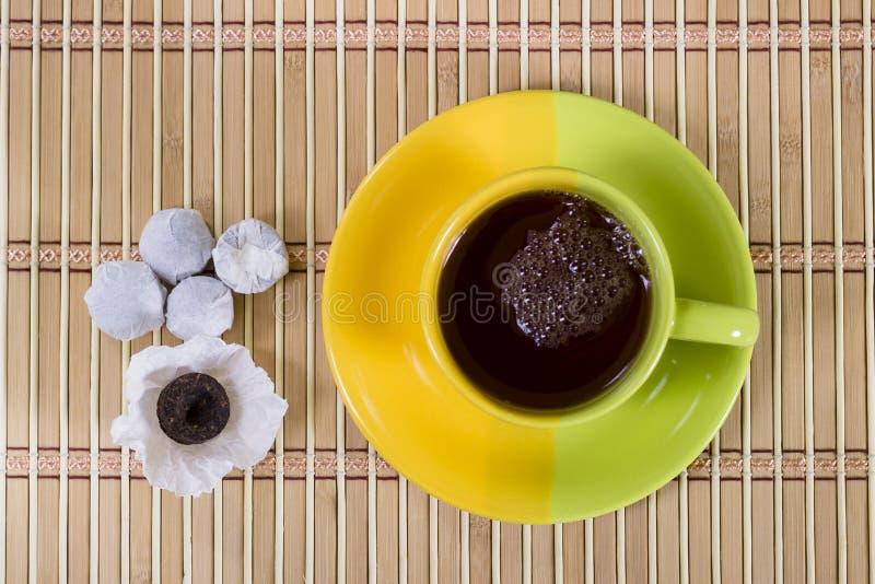 Pu-erh tea stock photo