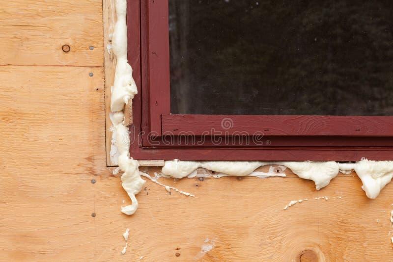 Download PU foam fills in gap stock image. Image of renewal, expanded - 14969875
