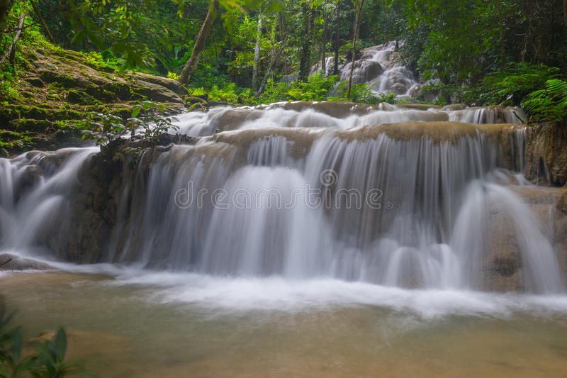 Pu Kang waterfall in the forest, Chiang Rai province, Thailand stock photos