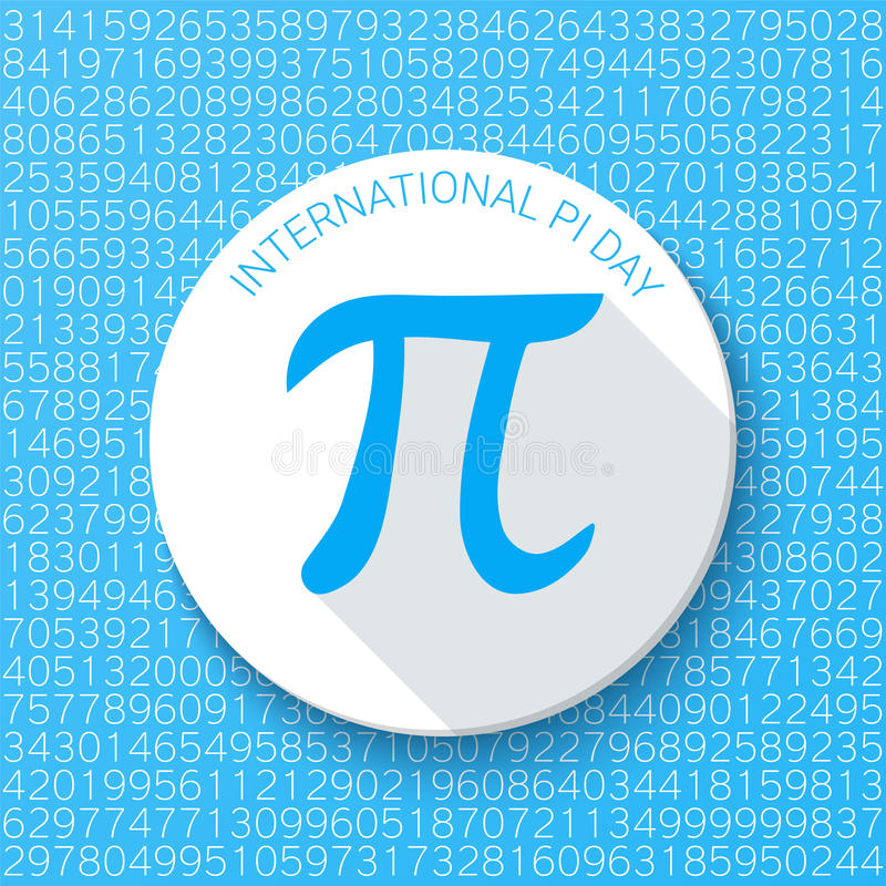 PU-Zeichen auf einem blauen Hintergrund Mathematische Konstante, irrationale Zahl Abstrakte Vektorillustration für einen PU-Tag lizenzfreie abbildung